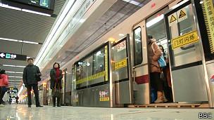 Metrô de Xangai (BBC)
