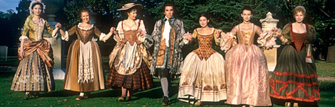 Casanova with lots of women (from a BBC TV drama)