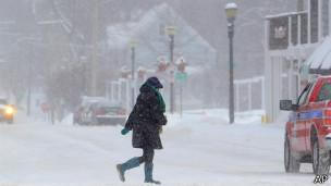 Снежная буря, США