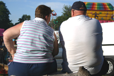 An overweight couple in Britain