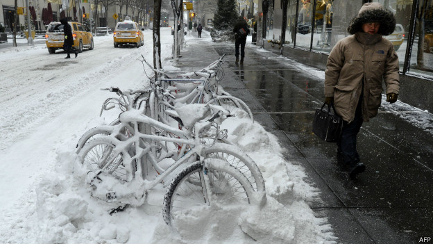 Neve em Nova York (AFP)