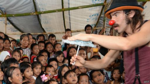 Anak-anak di Tacloban