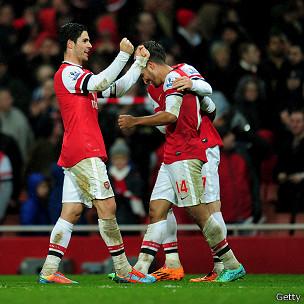 Jugadores del Arsenal