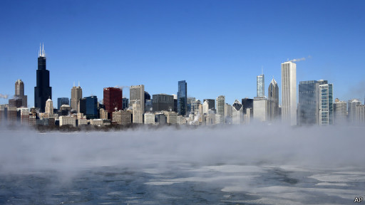 Чикаго - панорама со льдом