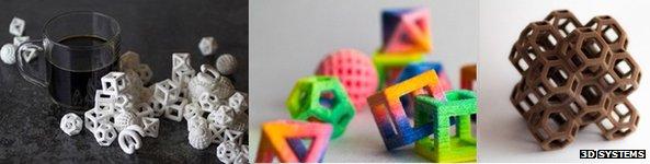солодощі, надруковані на 3D-принтері