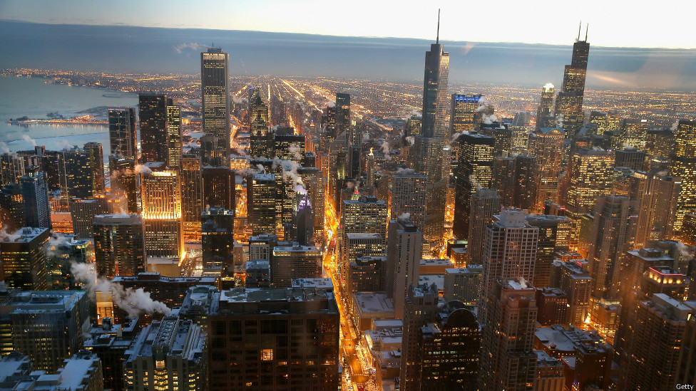 寒流中的芝加哥