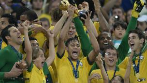 Brasil conquistou Copa das Confederações em 2013 /  Crédito da Foto: AFP