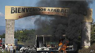 Incendio en Parácuaro, Michoacán