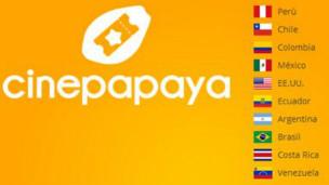 Cinepapaya opera en toda América Latina