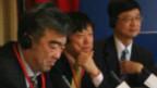 Ông Hồ Tích Tiến (giữa), Tổng biên tập Hoàn Cầu Thời báo, trực thuộc Nhân dân nhật báo của Đảng cộng sản TQ