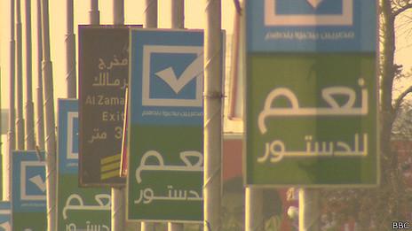 """Afiches por el """"Sí"""" en El Cairo"""