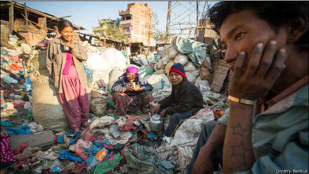 Свалка в Непале