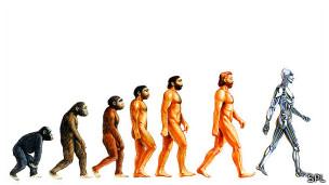 evolucion del mono al robot