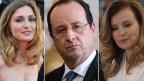 """Bạn gái """"chính thức"""" của ông Hollande là bà Valerie Trierweiler (phải), nhưng ông bị cáo buộc đang có quan hệ tình ái với diễn viên Julie Gayet (trái)"""