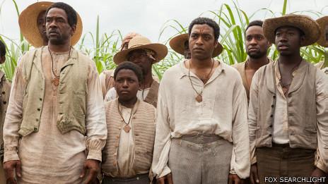 """Imagen fija de la película """"12 años de esclavitud"""""""