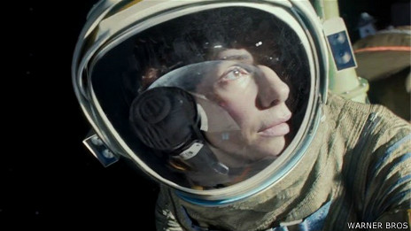 "Sandra Bullock en el filme ""Gravity"""
