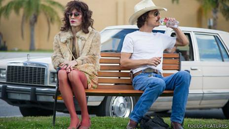 """Jared Leto y Matthew McConaughey en """"Dallas Buyers Club"""""""