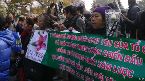 河內反華示威者
