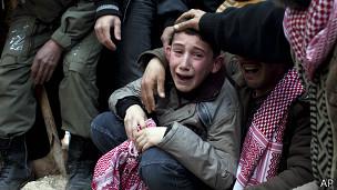 Menino sírio. Foto: AP