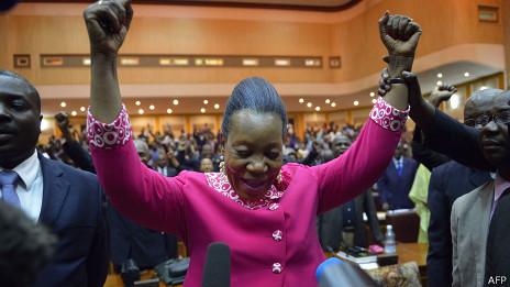 Catherine Samba-Panza, presidenta de la República Central Africana