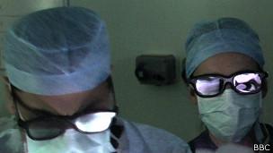 Operación del cerebro en 3D