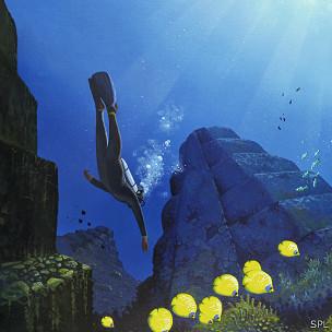 Ni siquiera bajo el agua hay paz.