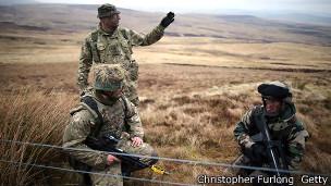 En el Parque Nacional de Northumberland todo es tranquilidad, cuando no está el ejército.