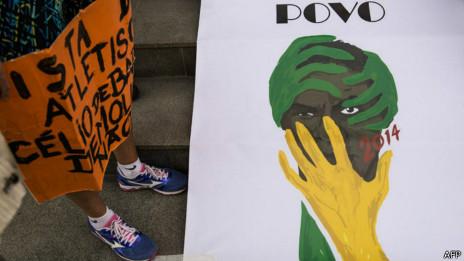 Cena de protesto contra Copa (AFP)