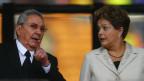 Raúl Castro e Dilma Rousseff   Crédito: Reuters