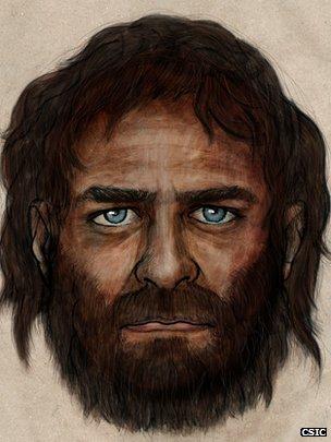 Europeo de hace 7.000 años