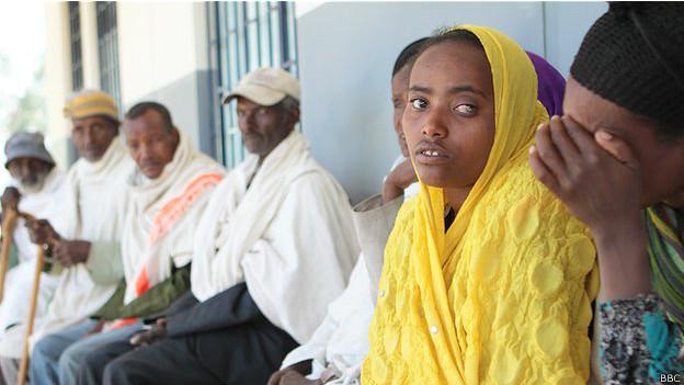 Paciente con tracoma.