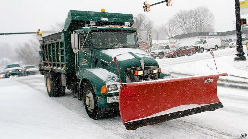 Снегоочиститель в США