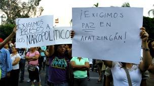 Protesta en favor de la paz en Apatzingán, Michoacán, México. Foto: Héctor Guerrero/AFP/Getty