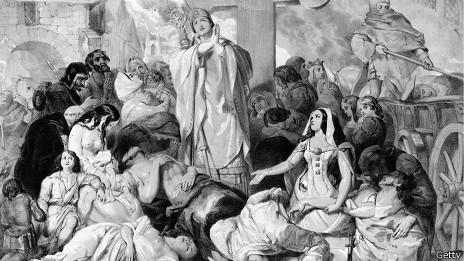 Dibujo de la peste negra
