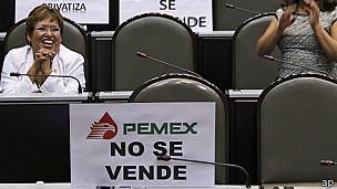 Diputados protestan por la Reforma Energética