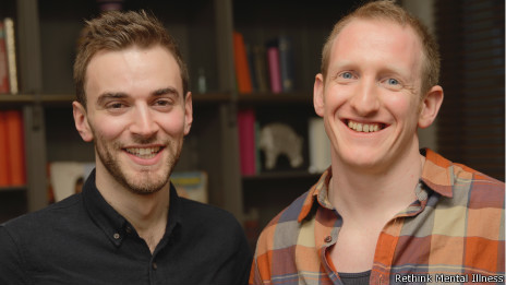 Jonny Benjamin (à esq) e Neil Laybourn | Rethink Mental Illness
