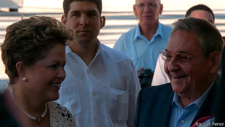 Raúl y Dilma