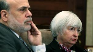 Ben Bernanke (izq.) y Janey Yellen