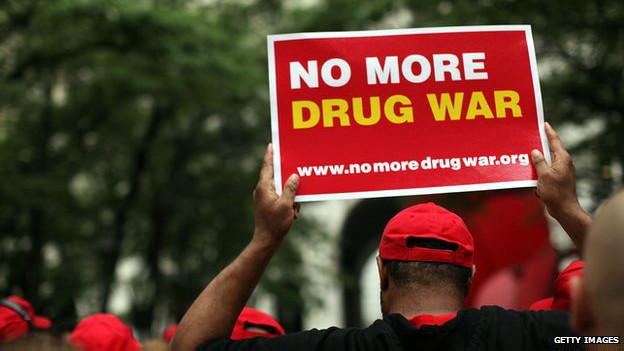 Marcha de protesta contra las políticas de drogas en EE.UU.