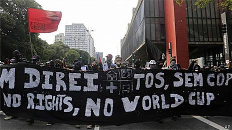Protesto contra a realização da Copa foi retomado no dia 25 de janeiro (AP)
