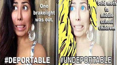 Imagen de la campaña #Undeportable
