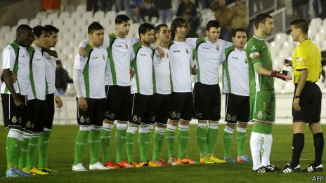 Jugadores del Racing de Santander