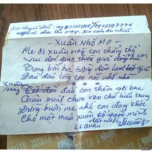 Lá thư của luật sư Quân Tết Giáp Ngọ