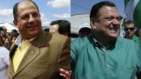Luis Guillermo Solís y Johnny Araya