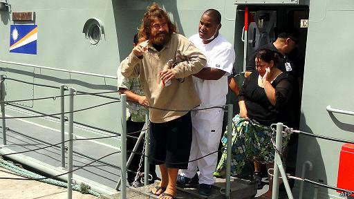 José Salvador Alverenga rescatado en Islas Marshall