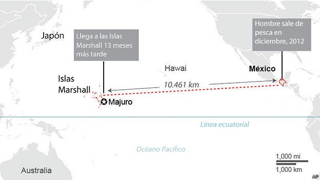 Mapa del recorrido de José Salvador Alverenga