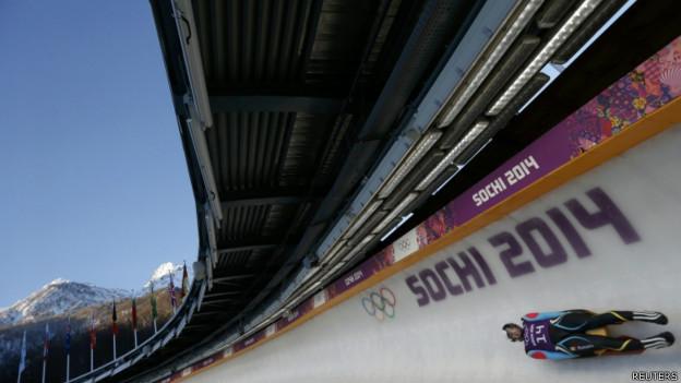 Pista de Luge em Sochi. Foto: Reuters