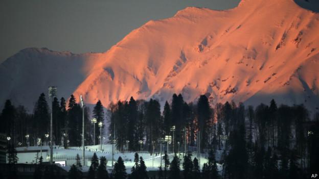 Montanhas em Sochi. Foto: AP