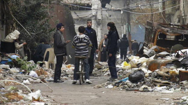 Crianças sírias em Homs (Reuters)