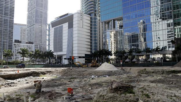 Trabajos arqueológicos en Miami